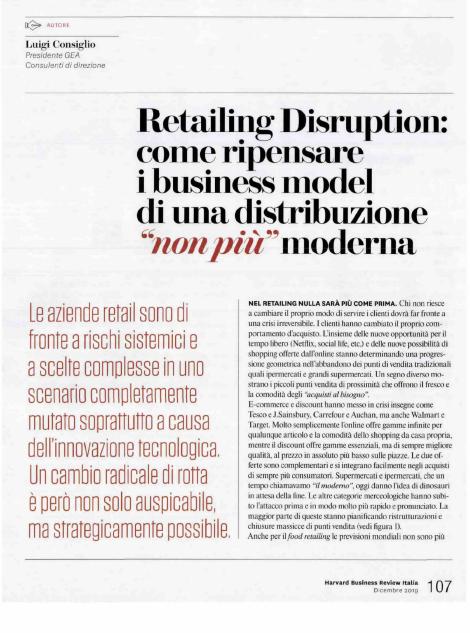 Harvard Business Review Italia - Articolo di Luigi Consiglio